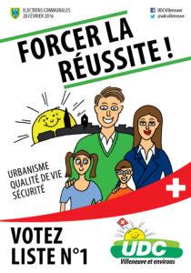 Affiche électorale pour le Conseil communal - 28 février 2016