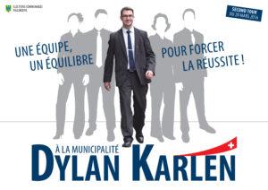 Affiche électorale pour la Municipalité - Second tour - 20 mars 2016
